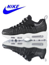 size 40 1d7f1 8e7dd New Arrival Authentic Nike Air Max 95 Premium Men s, Running Shoes, black,  Sport Outdoor Shock Absorbing Non-slip 538416-020