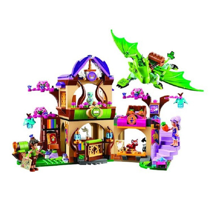 10504 694Pcs Legoed Friends The Secret Market Place Building Kit Dragon Figures Building Block Set Compatible Bela Girl Toys 10548 elves the precious crystal mine building block set naida farran figures baby dragon toys for children compatible 41177