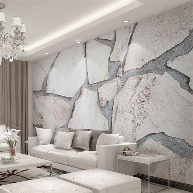 Beibehang 3D Wallpaper Modern Simple Cubic Marble Texture ...