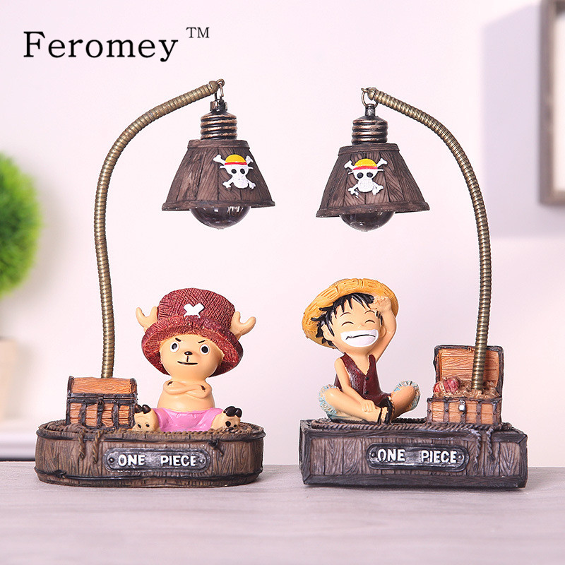Japanese Anime One Piece LED Night Light Children Kids Toys One Piece Luffy Chopper Night Light Action Figure Toys one piece figure japanese one piece nico robin pvc 17cm action figures kids toys japanese anime figurine doll free shipping