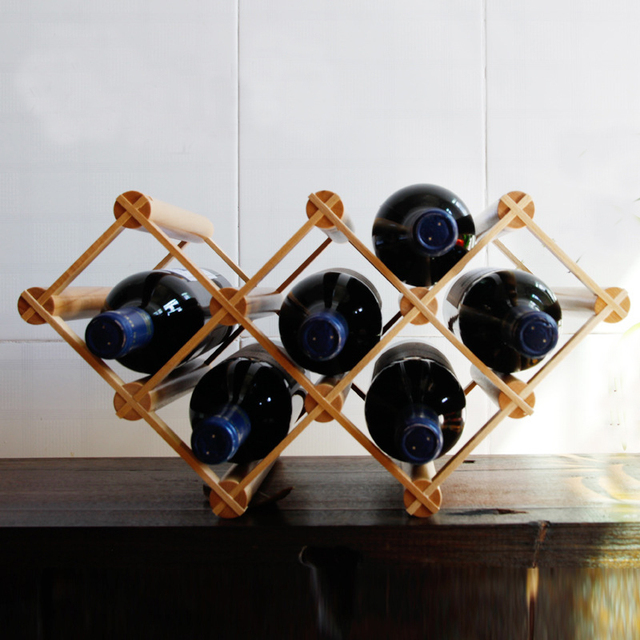DIY 3-layer Wine Rack Kitchen Tabletop Wine Bottle Rack Beach Wood 7-bottle & DIY 3 layer Wine Rack Kitchen Tabletop Wine Bottle Rack Beach Wood 7 ...