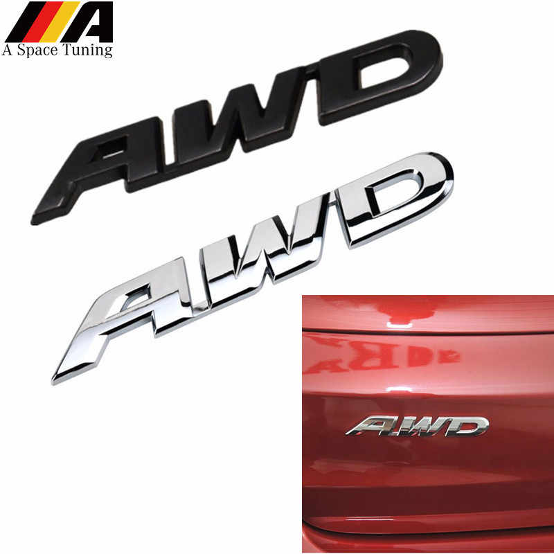 Auto Accessoires 3D Chroom Metalen Awd Embleem Sticker 4WD Badge Decal Logo Voor Vw Toyota Honda Ford Benz Audi Bmw buick Opel Gmc