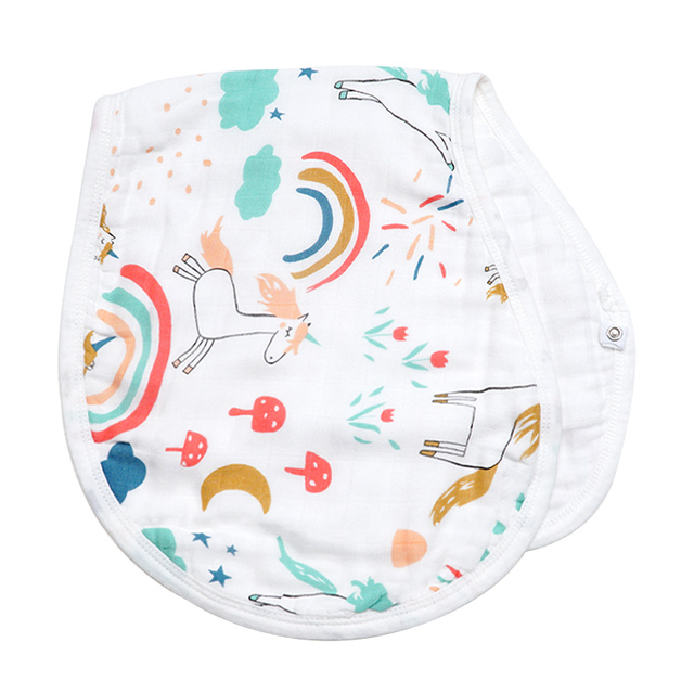 Muslin Life Bamboo Cotton Burp Cloth Hot Sale Burp Bib Soft Absorbent 6 Layers For Boys And Girls