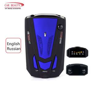 Car-Radar-Detector Vehicle Russian Auto Vehicle-Voice-Alert-Alarm Warning-Band Led-Display