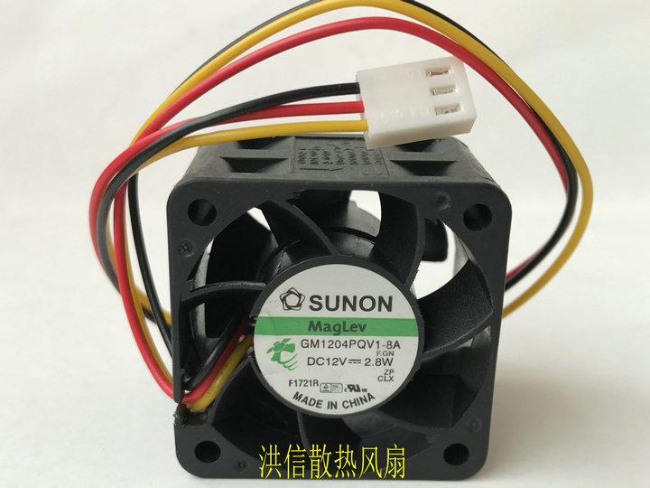 Original SUNON 4028 GM1204PQV1-8A 40mm 4cm DC 12V 2.8W 3wire Cooling Fans