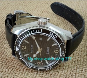 Image 2 - sapphire Crystal 45mm PARNIS Japanese 21 Jewels Automatic Self Wind Mechanical movement ceramics Bezel 5ATM Mens Watches 05a
