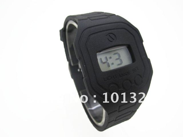 Silicone rubber watch for Sports & Outdoors