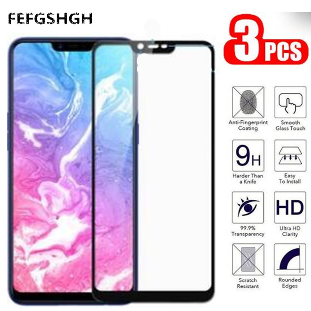 OPPO A5 Glass OPPO A5 Screen Protector Full Cover Flim Tempered Glass For OPPO A5 CPH1809 A 5 OPPOA5 Protective Glass 6.2 inch