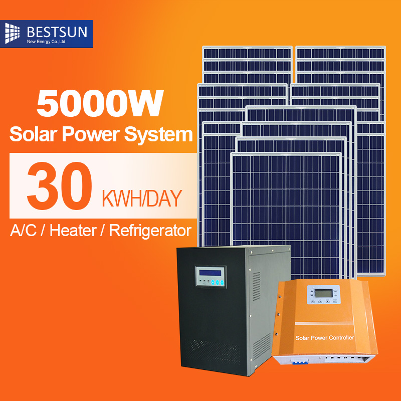 bfs 5000w h solar power panel pv systems for commercial 5kw plug in diy solar panel pv kit. Black Bedroom Furniture Sets. Home Design Ideas