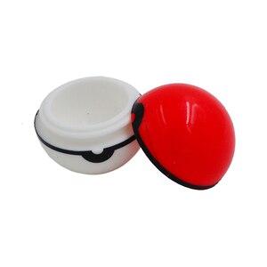 Image 4 - 20 pc 6 ml Pokeballs להתרכז מיכל כדור או ללא סטיק סיליקון שעוות שמן Pokeball Dab & בוטאן צנצנות קרם שמן או שמן חלקלק צנצנת