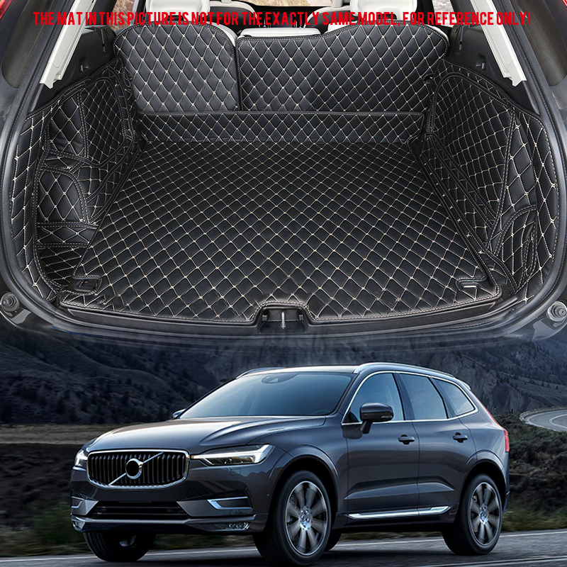 For VOLVO XC60 2018 Leather Car Interior Rear Boot Cargo Trunk Mat Pad 1set Car Styling Accessories for mazda cx 5 cx5 2nd gen 2017 2018 interior custom car styling waterproof full set trunk cargo liner mats tray protector