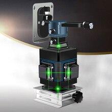 Niveau laser professionnel 4D 16 lignes 360 niveau Laser Vertical et Horizontal niveau Laser 4D à ligne croisée auto nivelant avec extérieur