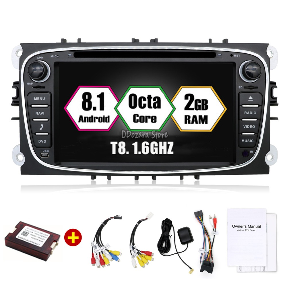 Car Multimedia Player Octa Core Android 8.1 GPS 2 Din car dvd player for FORD/Focus/S-MAX/Mondeo/C-MAX/Galaxy wifi car radio isudar car multimedia player gps 2 din car radio audio auto for ford mondeo focus transit c max bluetooth auto rear view camera