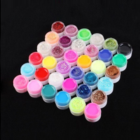 36 Pots Shiny Cover Pure Colors UV Gel Nail Art Tips Glitter Gel Manicure DIY Set