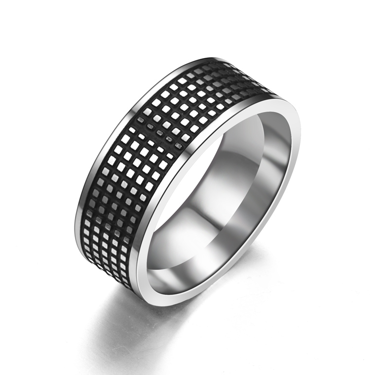 rings for women man wedding ring vintage silver 316l stainless steel promise jewelry tire tread style - Tire Wedding Rings
