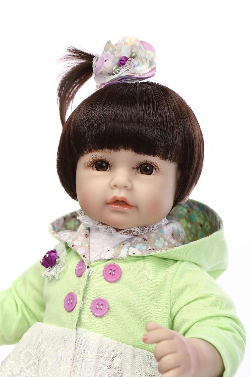 20inch 50cm Silicone vinyl reborn toddler doll toy for girl lifelike princess dolls play house toy birthday Children's Day gift silicone vinyl reborn toddler doll toys for girl 55cm lifelike princess doll play house toy birthday christmas gift brinquedods