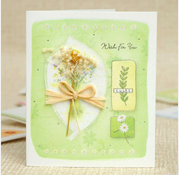 1PC/LOT 7.5x9cm Fresh look mini greeting card with envelope Handmade card Mix designs Gift card (SS-946-1)