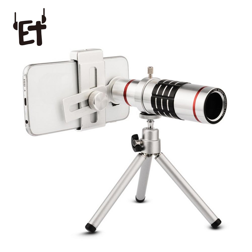 ET 18x Zoom Cellphone Optical Telescope Lens Kit with Tripod Universal