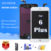 Vendita calda Per il iphone 6 6 S plus Display LCD modulo clone pantalla 3D touch screen digitizer assemblea sostituire Grade AAA nero bianco