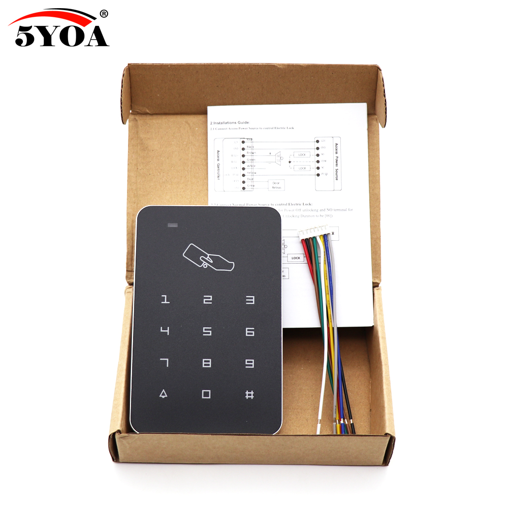 Standalone Access Controller with 10pcs EM keychains RFID Access Control Keypad digital panel Card Reader For Standalone Access Controller with 10pcs EM keychains RFID Access Control Keypad digital panel Card Reader For Door Lock System