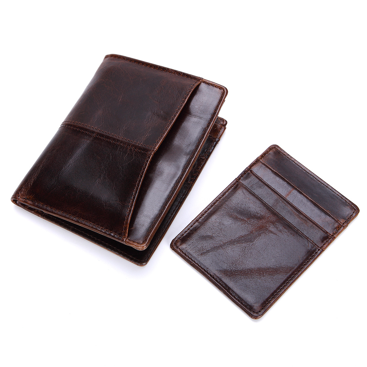 Genuine Leather Men Wallet Vintage Short Male Purse Credit Card Case Portfolio for Men Multi-functional Combination of Wallet ford cup viscosity cup viscosity measurement cup paint viscosity cup 3 4 optional page 5