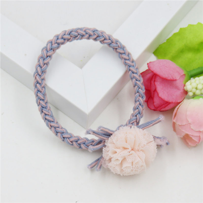 Apparel Accessories 1pcs Lovely Flower Gray Ball Elastic Hair Bands Toys For Girls Handmade Bow Headband Scrunchy Kids Hair Accessories For Womens Beautiful And Charming Girl's Accessories