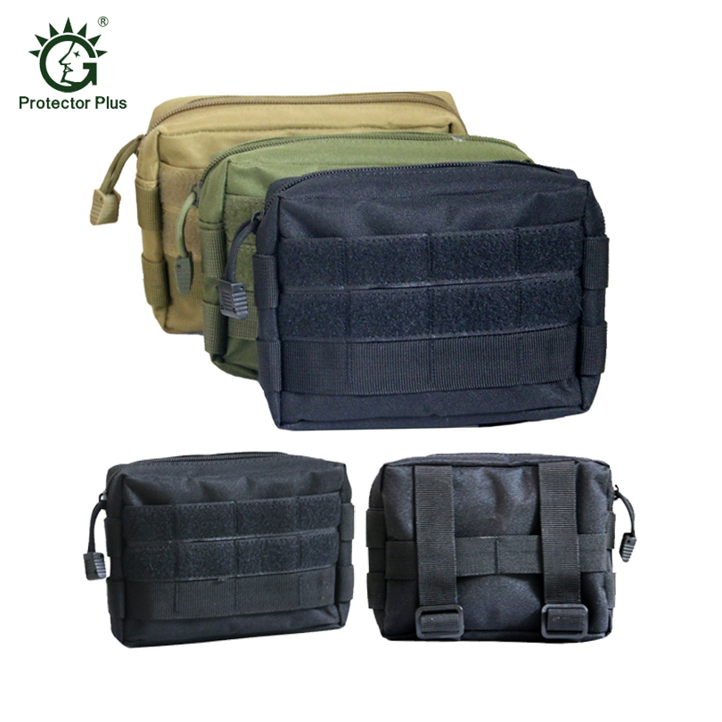 Airsoft Tactical Bag 600D Nylon EDC Bag Military MOLLE Small Utility Pouch Waterproof Magazine Outdoor Hunting Bags Waist Bag military molle admin front vest ammo storage pouch magazine utility belt waist bag for hunting shooting paintball cf game