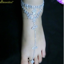 Diomedes Newest Classy1 PC Women Barefoot Sandals Beach Foot Jewelry Wedding Ankle Chain Anklet Foot Jewelry Pearl Chain Anklet