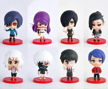 10cm Anime Tokyo Ghoul Cosplay Figures Q Version PVC Action Figure Collectible Model Toy Christmas Gifts With Box