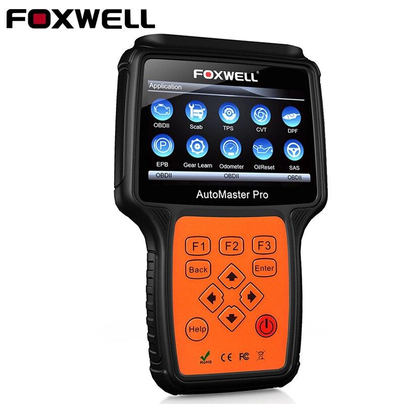 Foxwell NT644 про все-система OBD2 автомобильной сканер Нефть Сброс одометром TPS водителя obd2 Профессиональные автомобиля сканер инструмент диагнос...