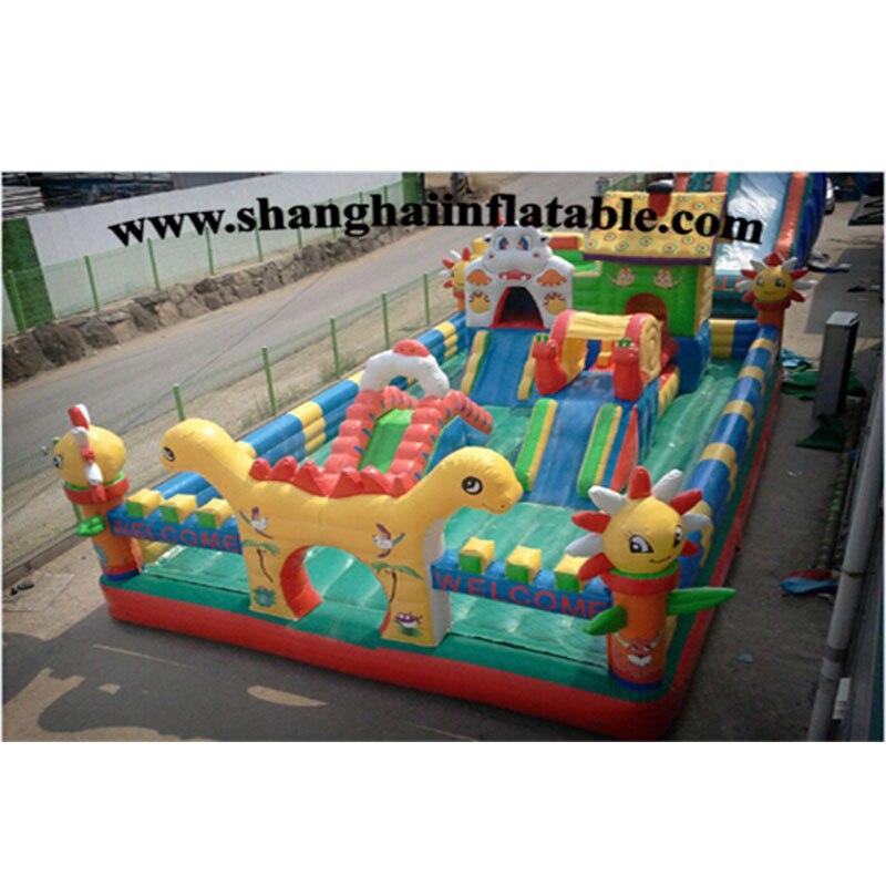 Équipement drôle de terrain de jeu d'enfants, grands trampoline de parc d'attractions d'enfants