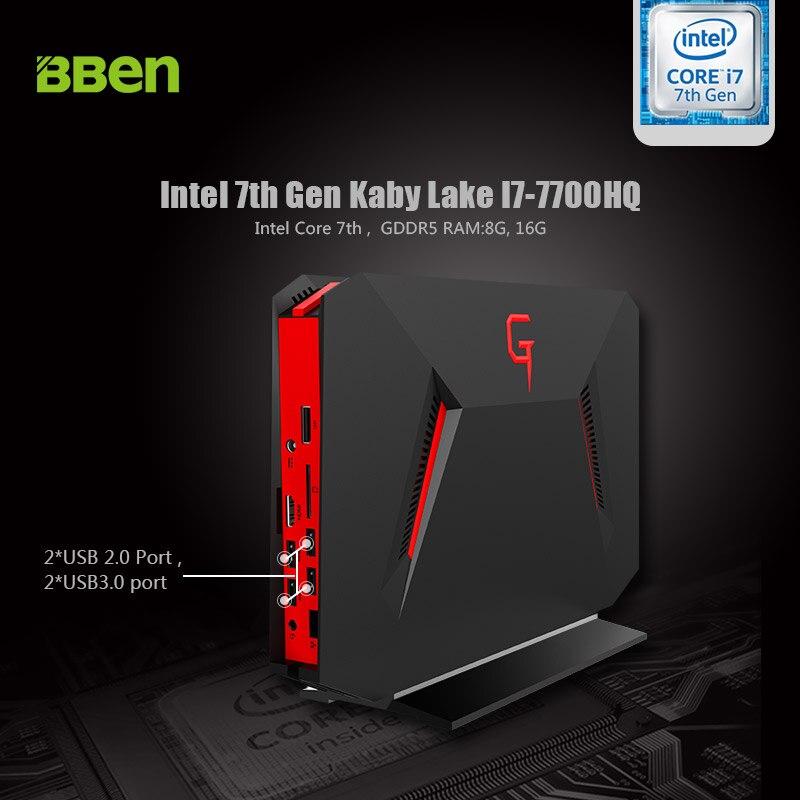 BBEN GB01 Mini PC Windows 10 Intel I7 7700HQ NVIDIA GTX1060 16GB RAM M 2 SSD