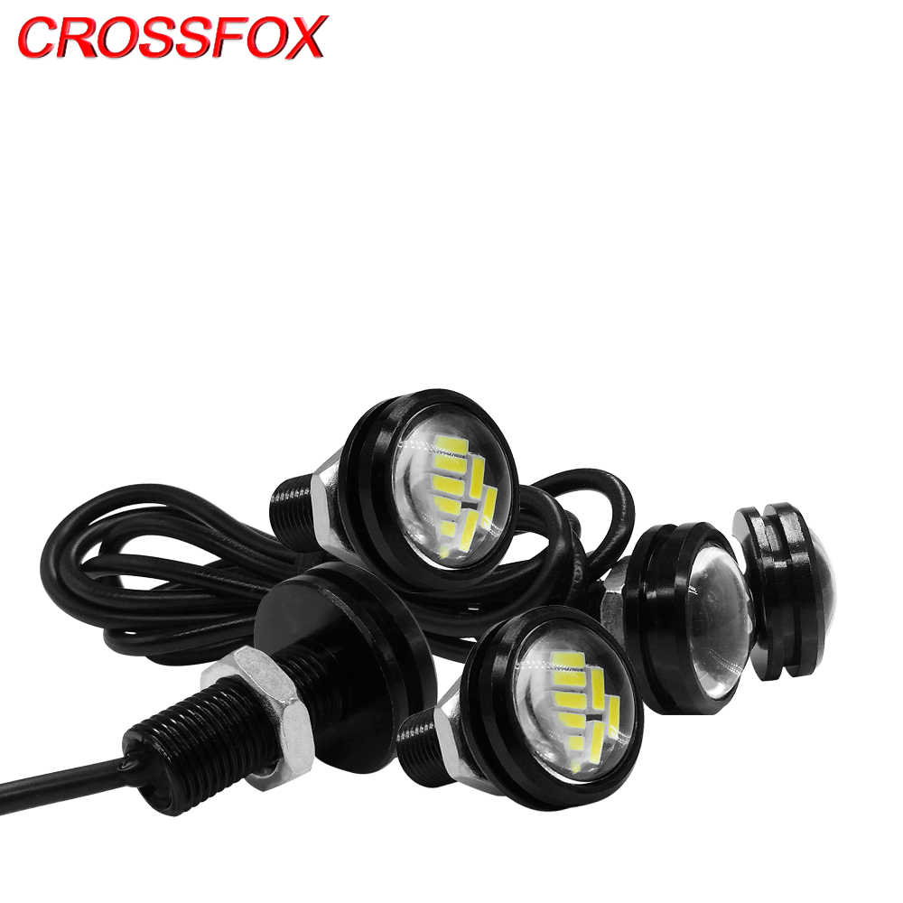 5PCS 23MM Car Light Assembly Eagle Eye Vehicle DRL 4014 LED Daytime Running Lights Backup White Parking Signal Lamp