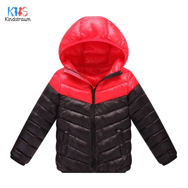 Kindstraum 2017 Children Color Block Coats Kids Thick Down Cotton Jackets Winter Hooded Coats for Girls,RC1490 casual 2016 winter jacket for boys warm jackets coats outerwears thick hooded down cotton jackets for children boy winter parkas