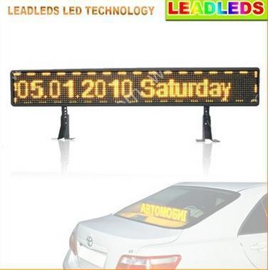 39 дюйм(ов) USB 16*96 пикселей автомобилей СВЕТОДИОДНЫЕ табло программируемый прокрутки сообщение признаки