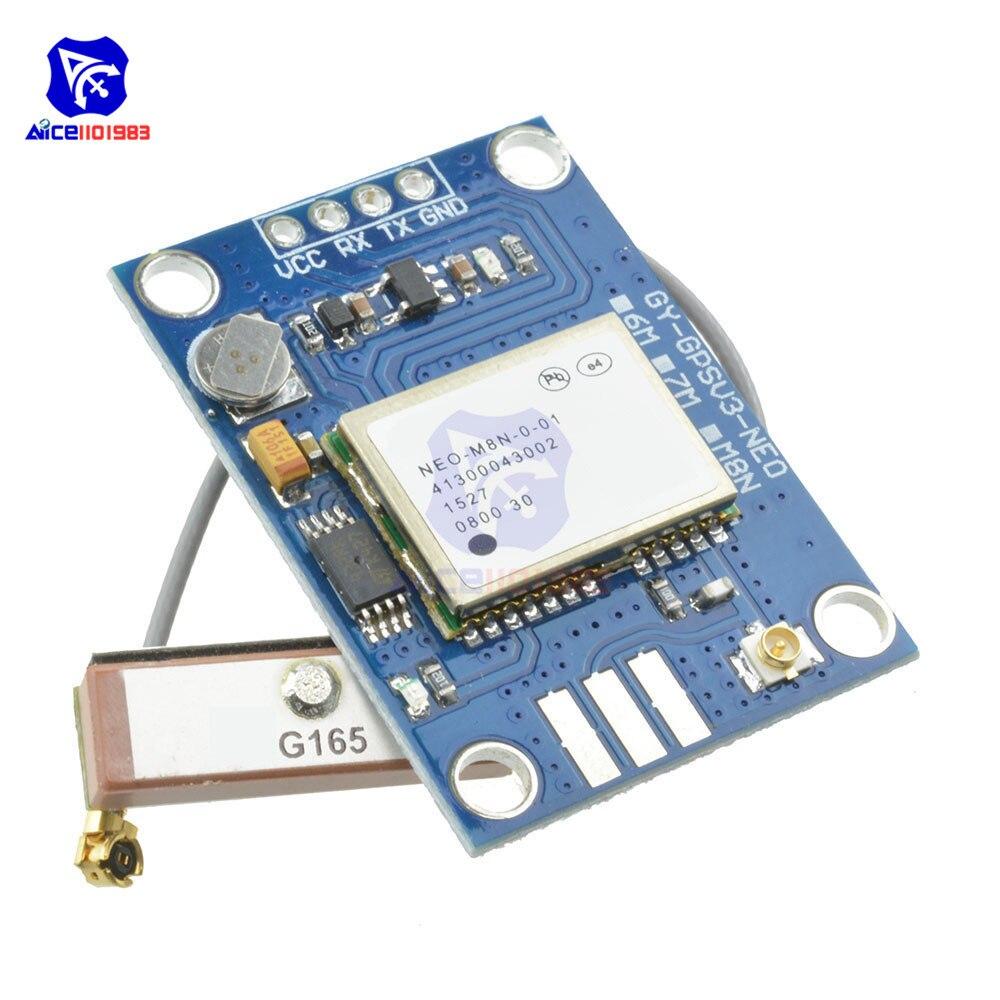 GY-GPSV3-NEO NEO-M8N GPS Module Flight Controller Board PX4 Pixhawk V2.4.5 APM2.56 RTKLIB with Antenna for Beidou GPS ModuleGY-GPSV3-NEO NEO-M8N GPS Module Flight Controller Board PX4 Pixhawk V2.4.5 APM2.56 RTKLIB with Antenna for Beidou GPS Module