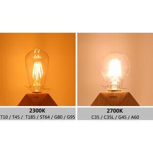 Image 5 - YNL Lampada בציר LED אדיסון הנורה E27 E14 220V 2W 4W 6W 8W Bombillas ST64 g80 LED מנורת עתיק רטרו זכוכית נימה אור הנורה