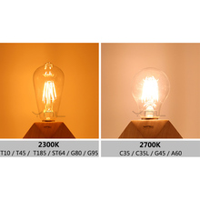 YNL Lampada Vintage LED Edison Bulb E27 E14 220V 2W 4W 6W 8W Bombillas ST64 G80 LED Lamp Antique Retro Glass Filament Light Bulb