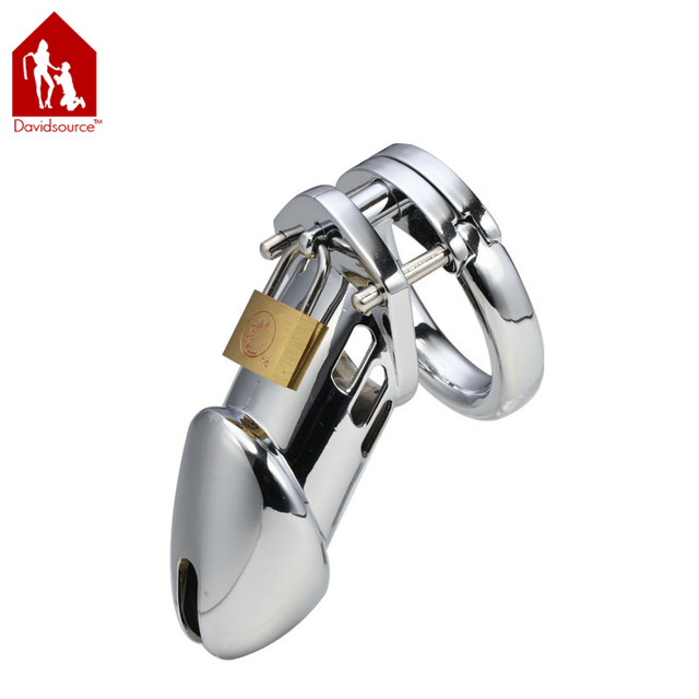 "Davidsource 4.2""Long 1.5""Wide Stainless Steel Pubic Enemy Cock Cage Virginity Lock Penis Torture Gear Fetish Men Sex Toy"