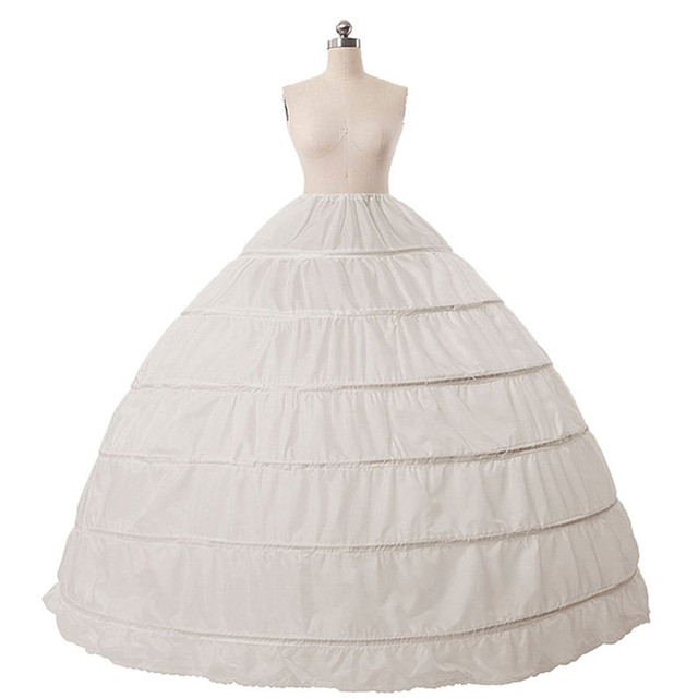 New 6 Hoops Petticoats Bustle for Ball Gown Wedding Dresses Underskirt Bridal Accessories Bridal Crinolines Cheap