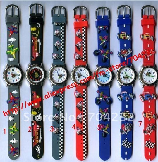Mixed styles Fashion lovely cartoon car children watch with many style MOQ50pcs 25day 100pcs/lot + free shipping