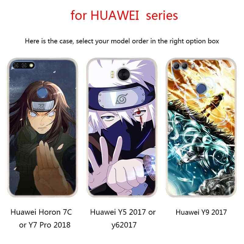火影うずまきナルトサスケハンセン Huawei 社メイト 20 10 Lite プロシリコーンカバー Y5 Y6 Y7 Y9 2019 2018 2017 ノヴァ 3i 4 ホット