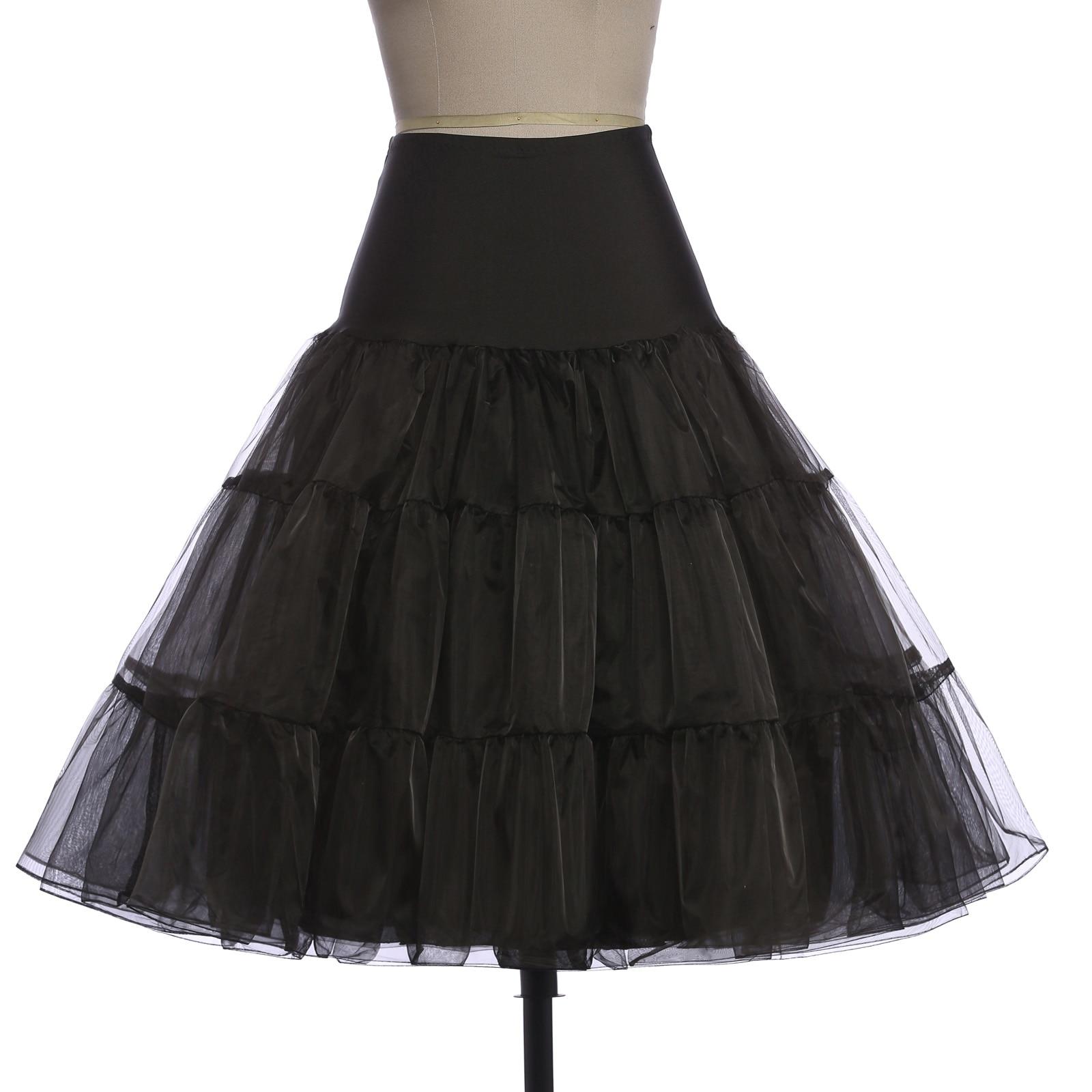 Slips Tulle Skirts Womens Retro Vintage Fluffy Pettiskirt For Wedding Bridal Party Pleated Crinoline Petticoat Underskirt Faldas