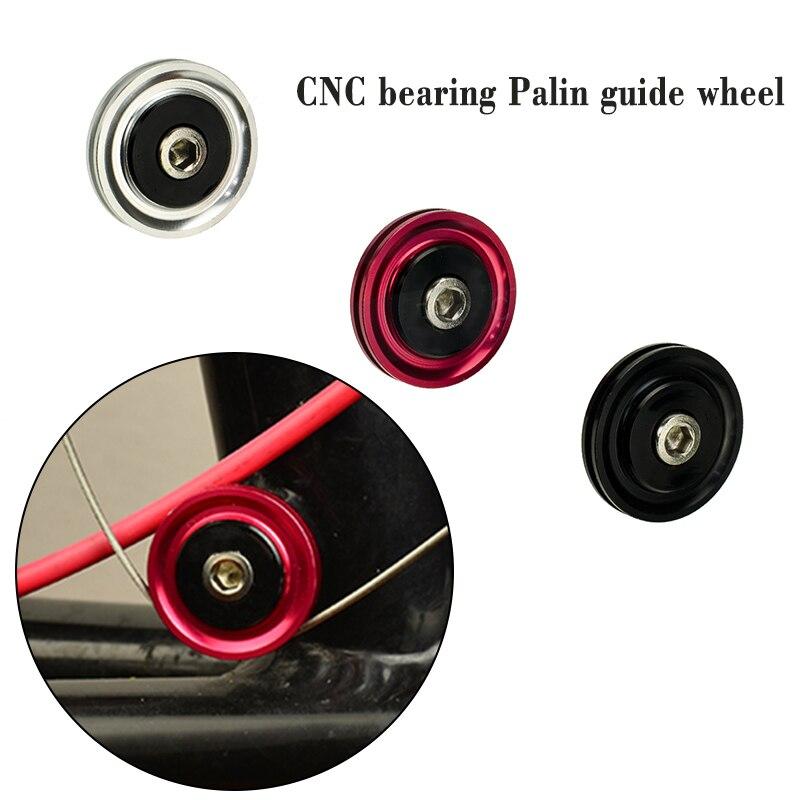 MUQZI Flying Bird Bicycle Fold Bicycle Aluminum CNC Bearing Palin Guide Wheel SP8 Front Dial Line Cutter