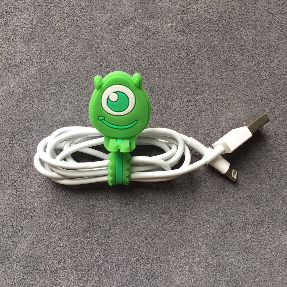 Cartoon Cable Organizer Bobbin Winder Wire Protector Cord Management Marker Holder Cover For Earphone iPhone Samsung MP3 USB