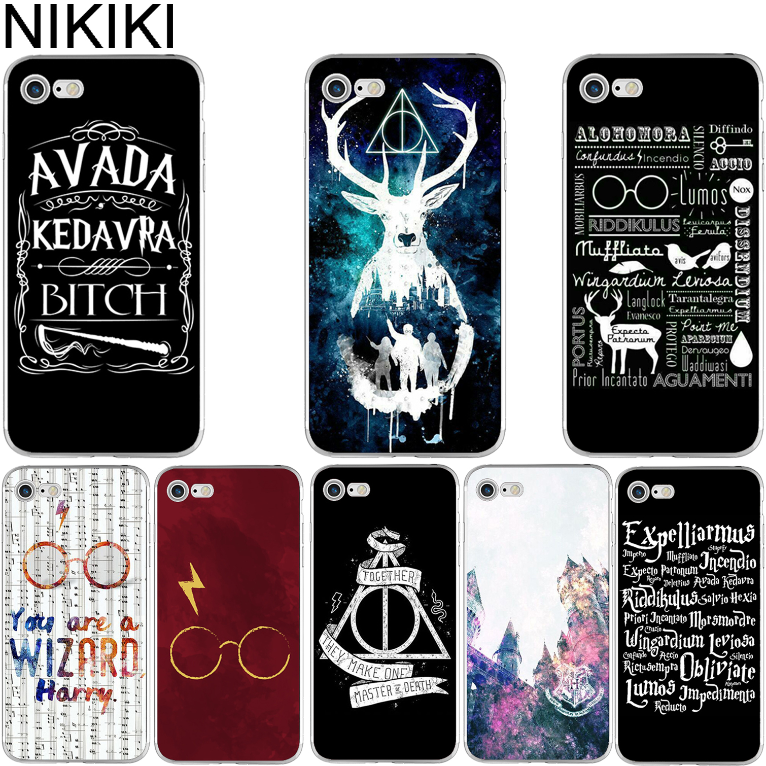 NIKIKI Harry Potter Design Soft TPU Clear Transparent Phone Case Cover for Apple IPhone 6 6S 7 8 Plus 5S SE X Coque Fundas