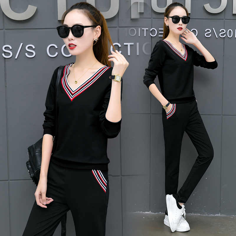 6a804a6486c8 Detail Feedback Questions about Fashion sports suit female 2 piece ...