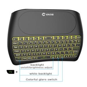 Image 5 - VONTAR 백라이트 블루투스 키보드 D8 슈퍼 영어 러시아어 2.4G 무선 미니 키보드 에어 마우스 터치 패드 안드로이드 TV 박스