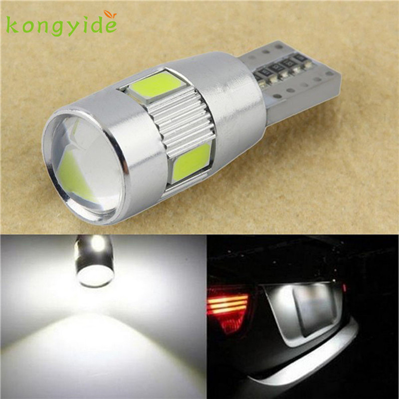 AUTO 1PC New parking HID White CANBUS T10 W5W 5630 6-SMD Auto LED Bulb Lamp 194 192 158 License Plate Lights car styling Jul 18 1pc new parking hid white canbus t10 w5w