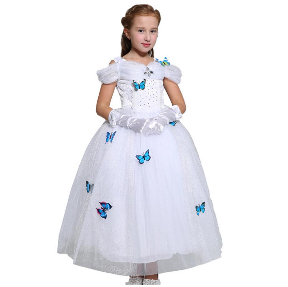 New Nip Disney Baby Girls Halloween Cinderella Costume 6: New Summer Girls Snow White Princess Dresses Kids Girls